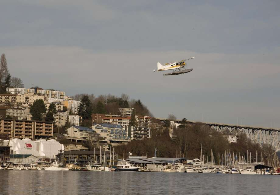 Take off from Lake Union in a seaplane: A 20-minute scenic flight over Seattle costs $99 per person through Kenmore Air. Or make the trip to the San Juan Islands. Photo: George Rose, Getty Images