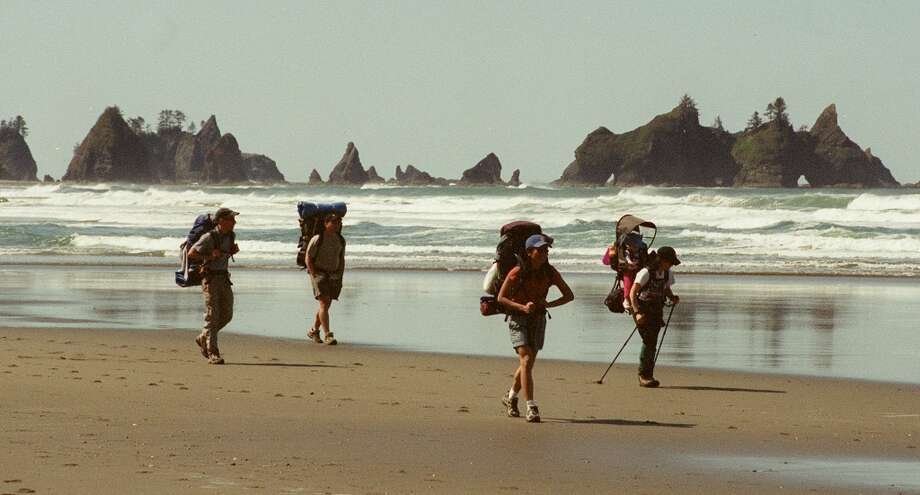 Camp at Shi Shi Beach: Seastacks, tide pools, and an easy hike make this Northwest corner of America one crowded spot in the summer. Photo: DAN DELONG