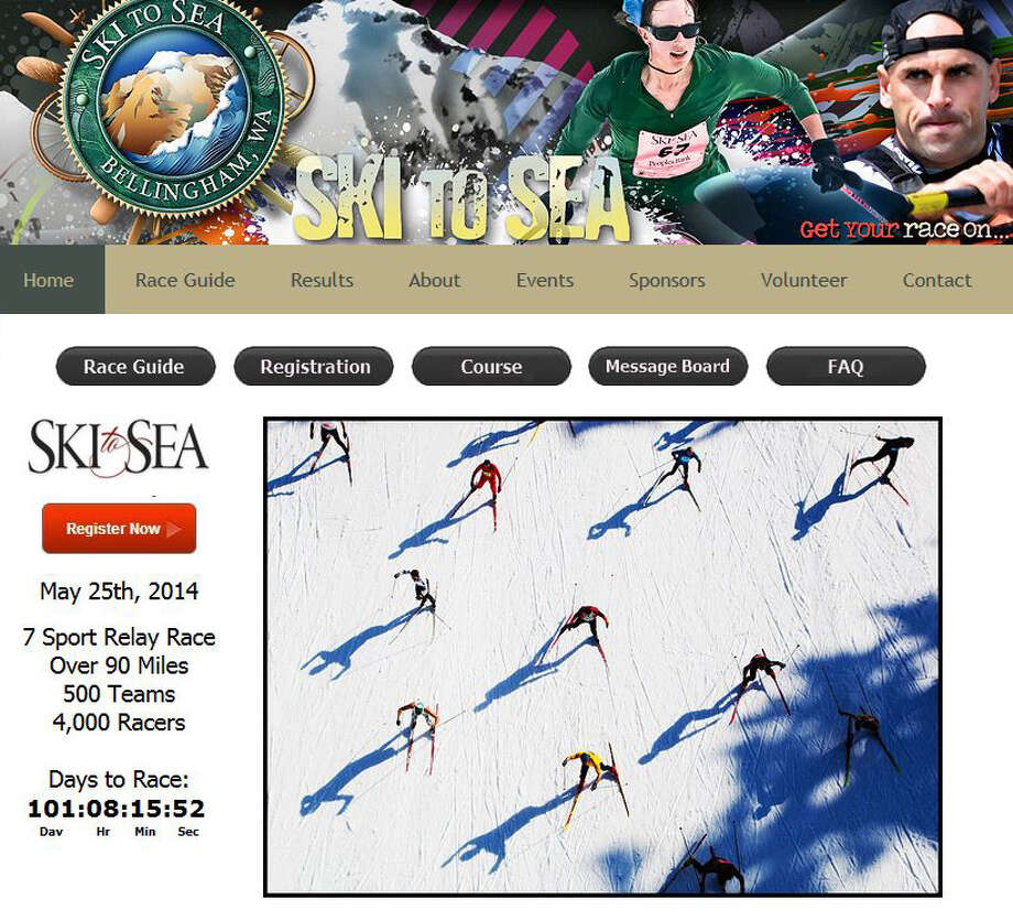 Do the Ski to Sea: This race from Mount Baker to Bellingham Bay pits teams of eight people in a 7-sport, relay race over 90 miles.The sports are: Cross-country skiing, downhill skiing or snowboarding, running, road biking, canoeing, mountain-biking, and kayaking. Photo: Ski To Sea Website