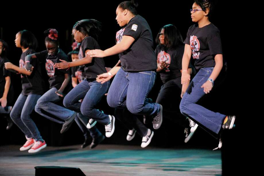 Members of Albany Community Charter Middle School Chimalsi Steppers perform during the 2014 Black History Month Step Show at the Palace Theatre on Sunday, Feb. 16, 2014 in Albany, NY.   (Paul Buckowski / Times Union) Photo: Paul Buckowski / 00025760A