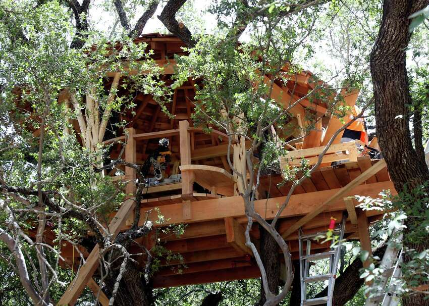 Pete Nelson designed the treehouse and is overseeing its construction at Anne Frank Inspire Academy.