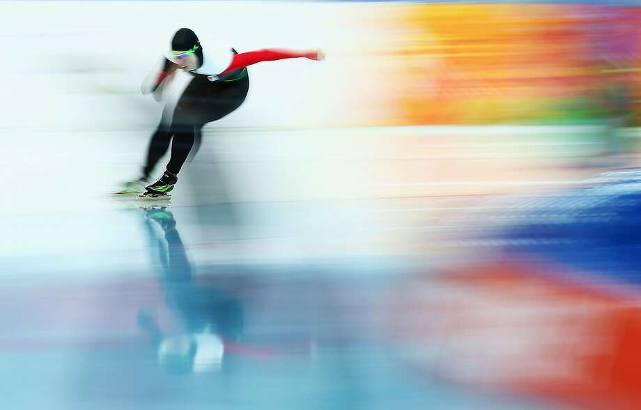 SOCHI, RUSSIA - FEBRUARY 16:  Brianne Tutt of Canada competes during the Speed Skating Women's 1500m on day nine of the Sochi 2014 Winter Olympics at Adler Arena Skating Center on February 16, 2014 in Sochi, Russia.  (Photo by Ryan Pierse/Getty Images) *** BESTPIX *** Photo: Ryan Pierse, Getty Images