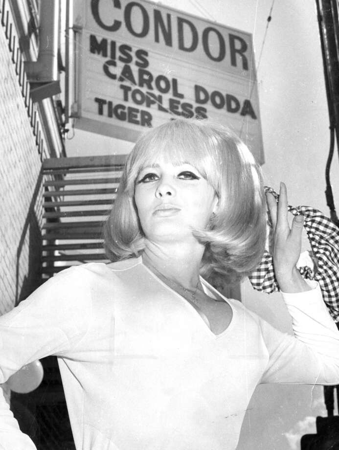 How can we leave out topless entertainer Carol Doda? Here she is pictured in front of the Condor in San Francisco's North Beach district. Dec. 3, 1966. Photo: Max A. Guttierez, The Chronicle