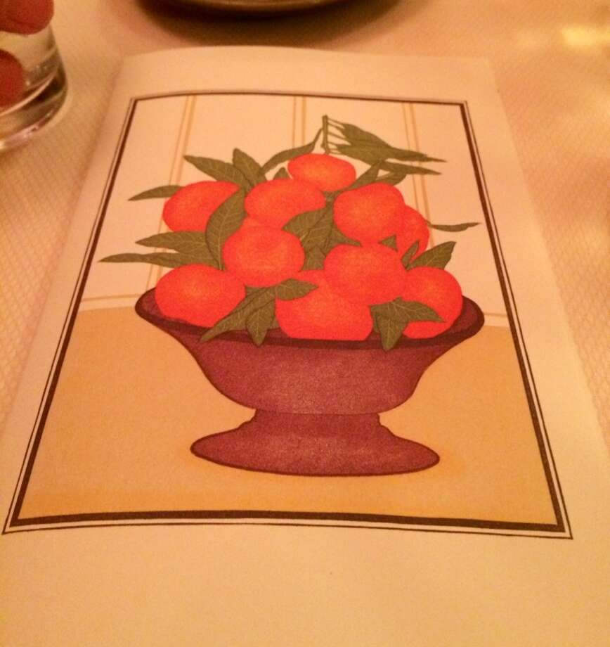 The menu at Chez Panisse