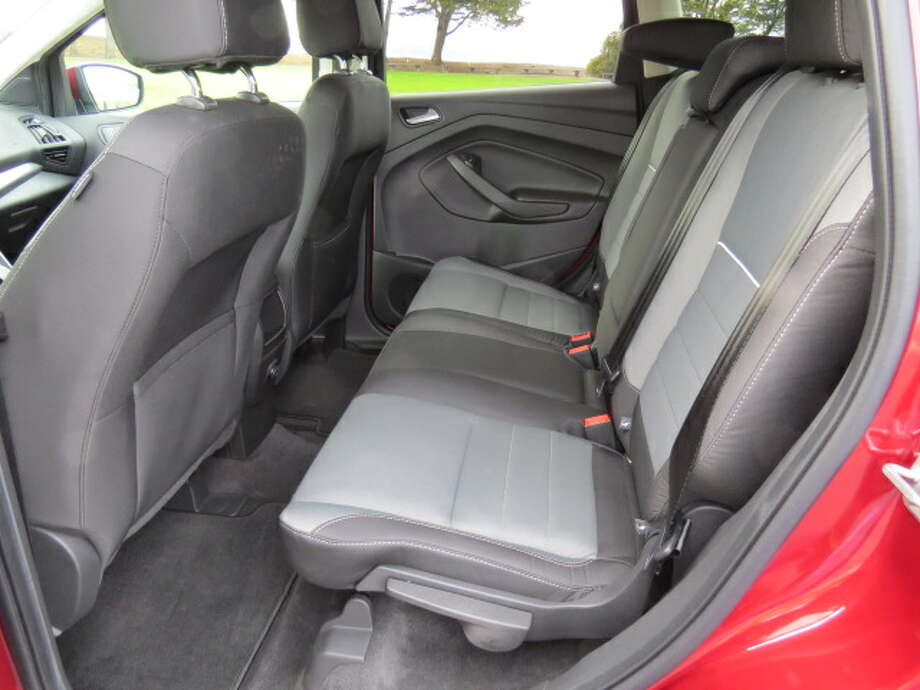 Typical of a small SUV, the back seat could be cramped for three passengers if it's a long ride, but okay for two.