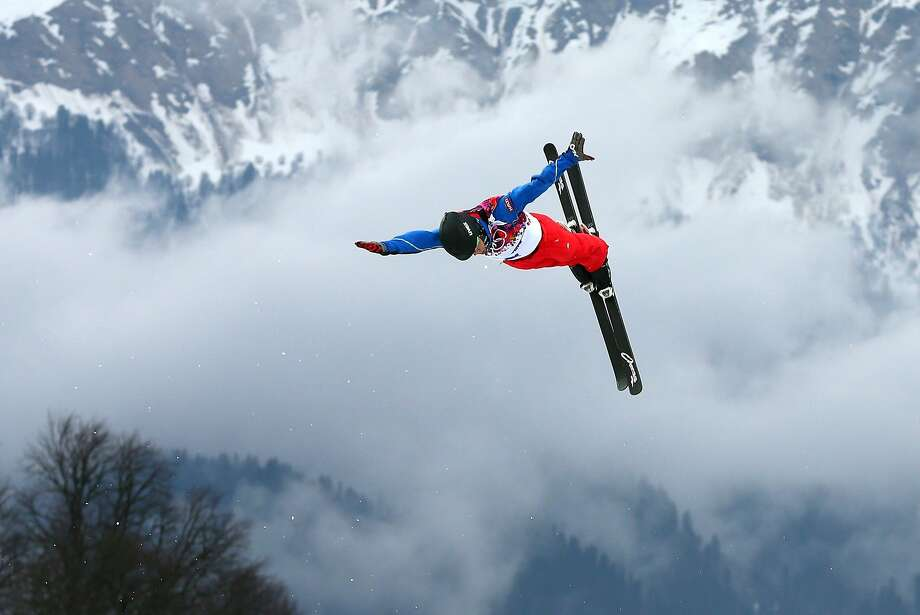 Guangpu Qi of China practices prior to the Freestyle Skiing Men's Aerials Qualification on day ten of the 2014 Winter Olympics at Rosa Khutor Extreme Park on February 17, 2014 in Sochi, Russia.  Photo: Cameron Spencer, Getty Images