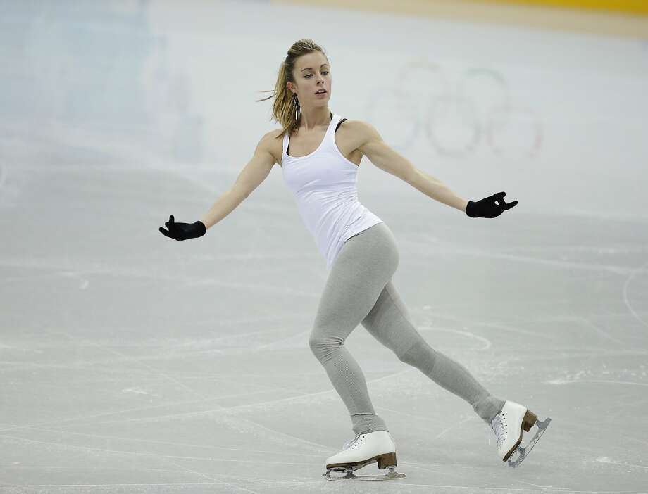 Ashley Wagner of the United States skates during a practice session at the figure stating practice rink at the 2014 Winter Olympics, Monday, Feb. 17, 2014, in Sochi, Russia. Photo: Darron Cummings, Associated Press