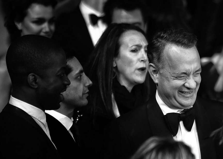 Tom Hanks (R) attends the EE British Academy Film Awards 2014 at The Royal Opera House on February 16, 2014 in London, England. Photo: Tim P. Whitby, Getty Images