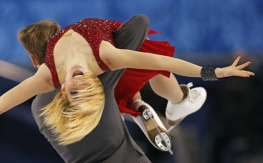 Isabella Tobias and Deividas Stagniunas of Lithuania compete in the ice dance free dance figure skating finals at the Iceberg Skating Palace during the 2014 Winter Olympics, Monday, Feb. 17, 2014, in Sochi, Russia.