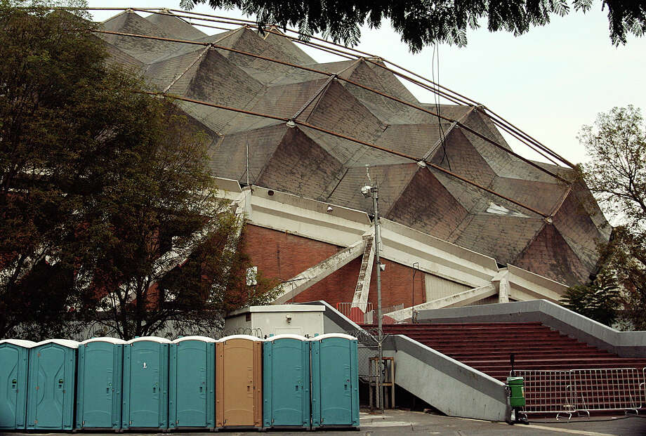 Mexico City 1968: The Palacio de los Deportes, where many indoor sports were played, has seen better days though it is still a concert venue. Photo: Trevor.patt, Flickr.com
