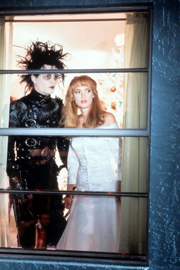 "Johnny Depp and Winona Ryder in ""Edward Scissorhands,"" 1990. Photo: Archive Photos, Getty Images"