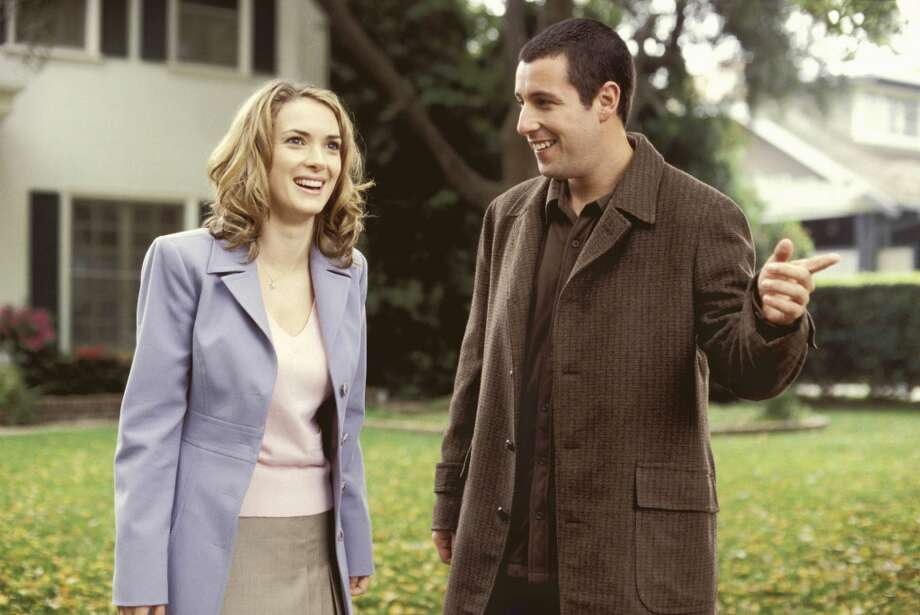 "Ryder and Adam Sandler in ""Mr. Deeds,"" 2002. Photo: JON FARMER, COLUMBIA PICTURES/NEW LINE"
