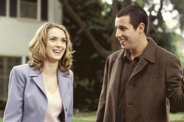 "Ryder and Adam Sandler in ""Mr. Deeds,"" 2002."