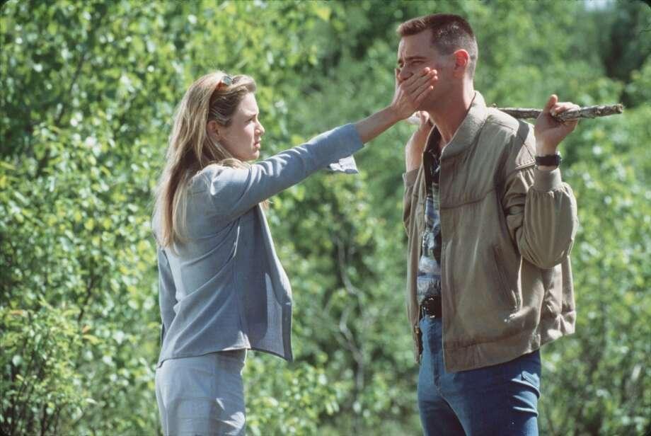 "Zellweger and Jim Carrey in ""Me, Myself & Irene,"" 2000. Photo: Glenn Watson, Twentieth Century Fox"