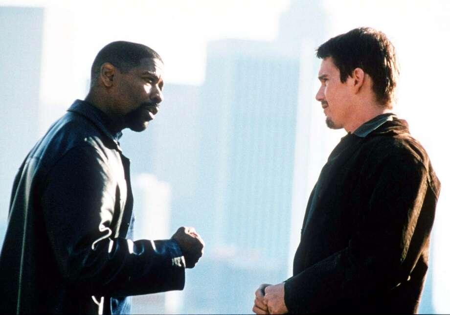 "Denzel Washington and Ethan Hawke in ""Training Day,"" 2001. Photo: ROBERT ZUCKERMAN, AP"
