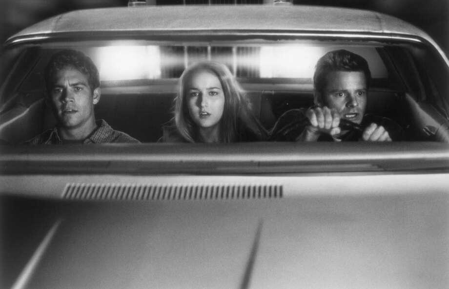 """Leelee Sobieski, Zahn and Paul Walker in """"Joy Ride,"""" 2001. Photo: Merie W. Wallace, Monarchy Enterprises & Regency C"""