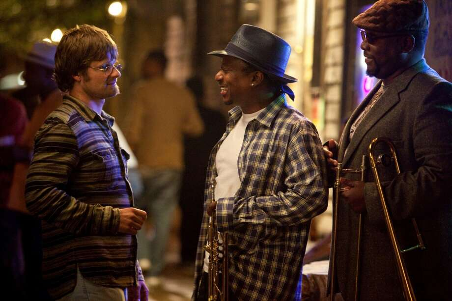 "Steve Zahn, Kermit Ruffins, Wendell Pierce in ""Treme,"" 2010. Photo: Skip Bolen, HBO"