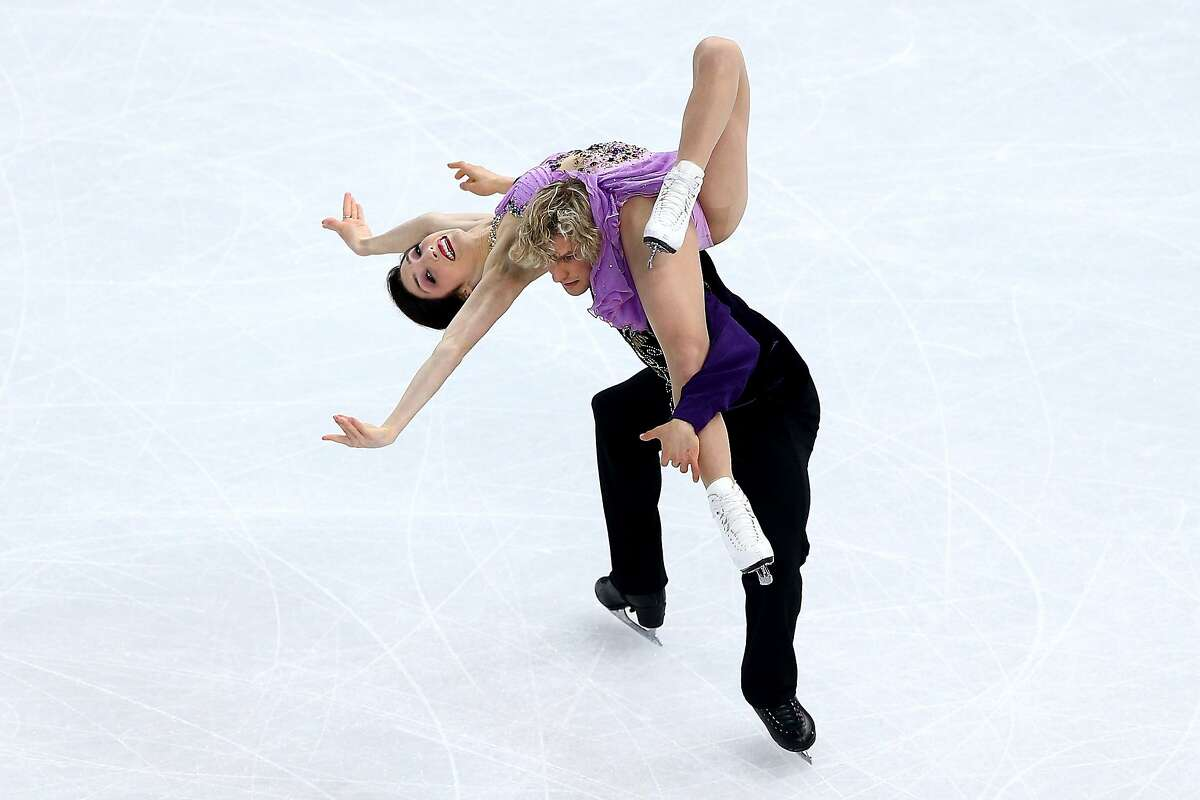 Meryl Davis and Charlie White of the United States compete in the Figure Skating Ice Dance Free Dance on Day 10 of the Sochi 2014 Winter Olympics at Iceberg Skating Palace on February 17, 2014 in Sochi, Russia.