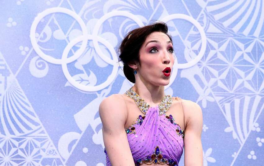 Meryl Davis of the United States waits for the score after competing with Charlie White in the Figure Skating Ice Dance Free Dance on Day 10 of the Sochi 2014 Winter Olympics at Iceberg Skating Palace on February 17, 2014 in Sochi, Russia.