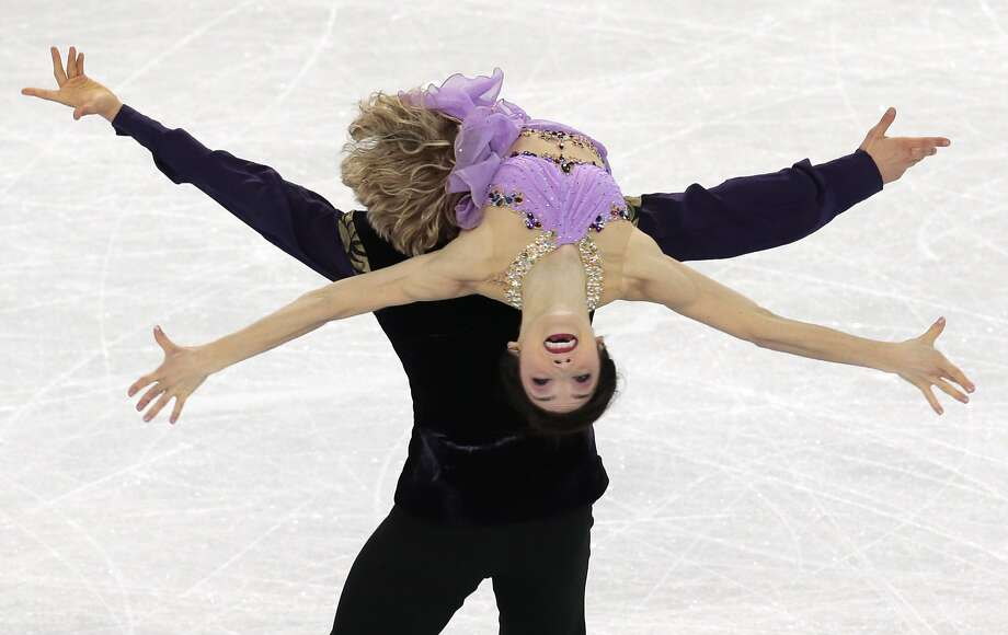 Meryl Davis and Charlie White of the United States compete in the ice dance free dance figure skating finals at the Iceberg Skating Palace during the 2014 Winter Olympics, Monday, Feb. 17, 2014, in Sochi, Russia. Photo: Ivan Sekretarev, Associated Press