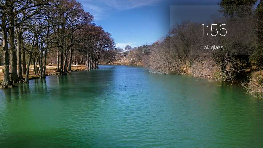 Beautiful blue-green colors of the Guadalupe River