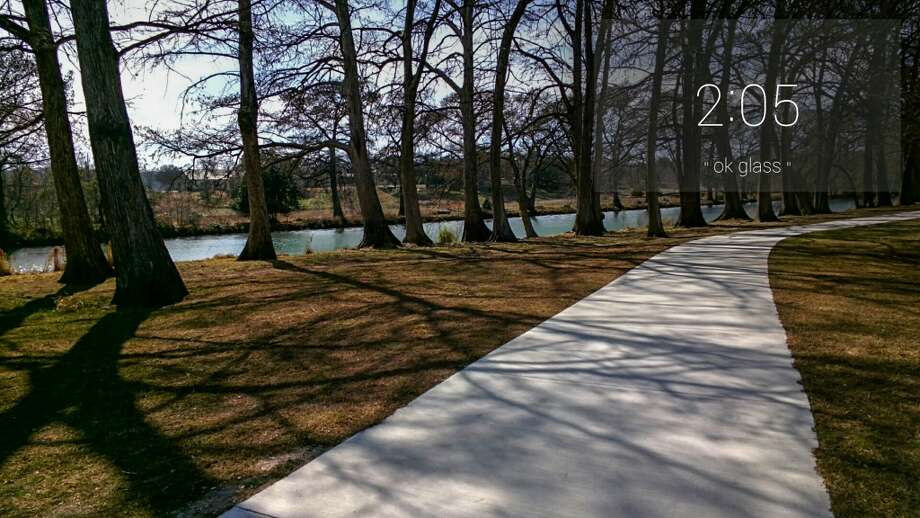 Nice, paved walkways along the Guadalupe River