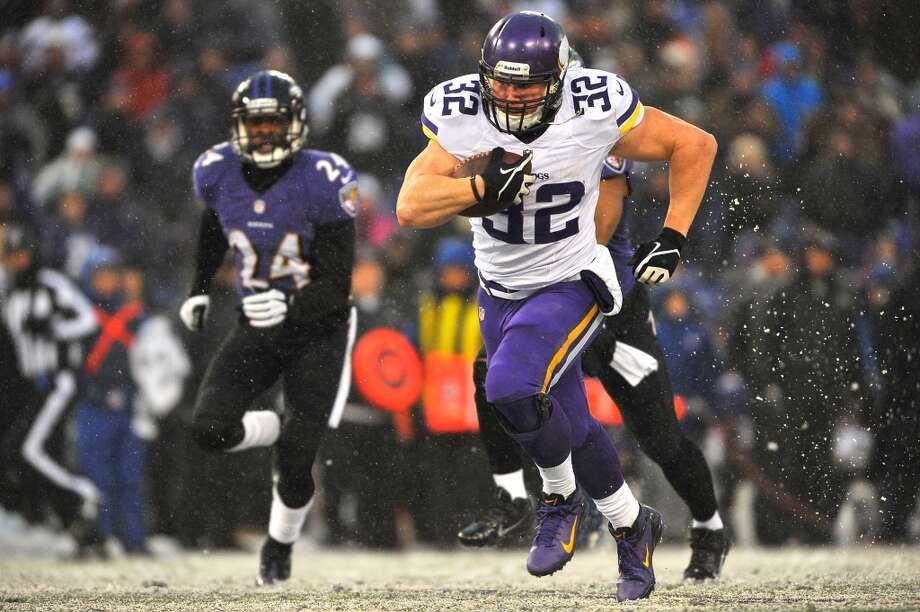 Toby Gerhart  Age: 26  2013 team: Minnesota Vikings  2013 stats: 36 carries, 283 yards and 2 TDs Photo: Larry French, Getty Images