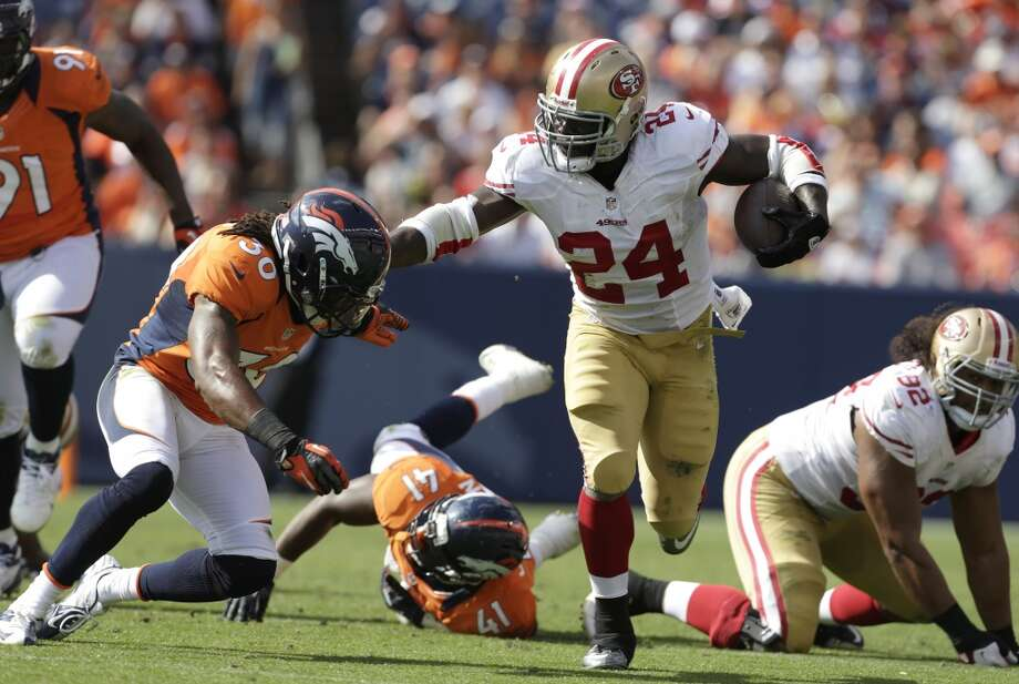 Anthony Dixon  Age: 26  2013 team: San Francisco 49ers  2013 stats: 28 carries, 56 yards and 2 TDs Photo: Joe Mahoney, Associated Press