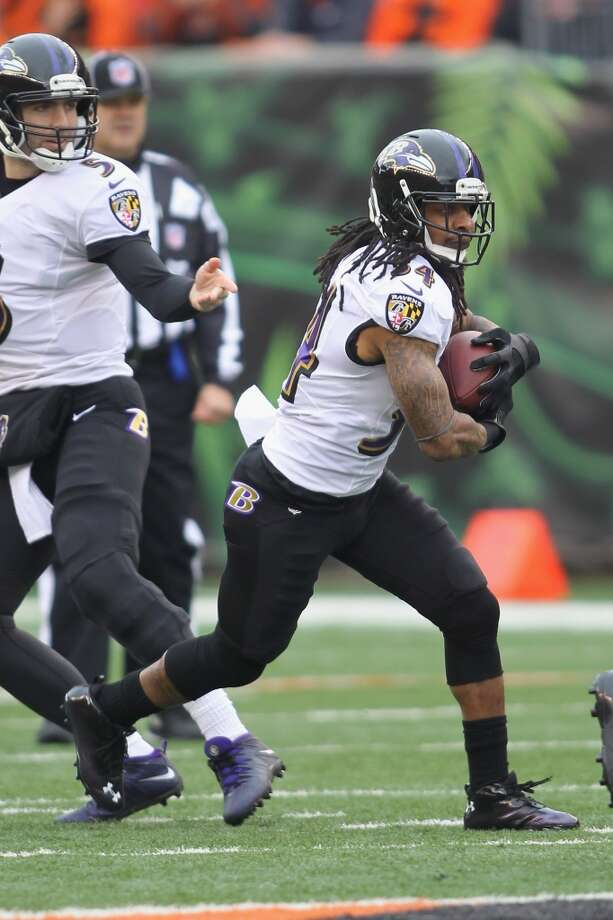 Bernard Scott  Age: 30  2013 team: Baltimore Ravens  2013 stats: 4 carries, 14 yards and 0 TDs Photo: John Grieshop, Getty Images