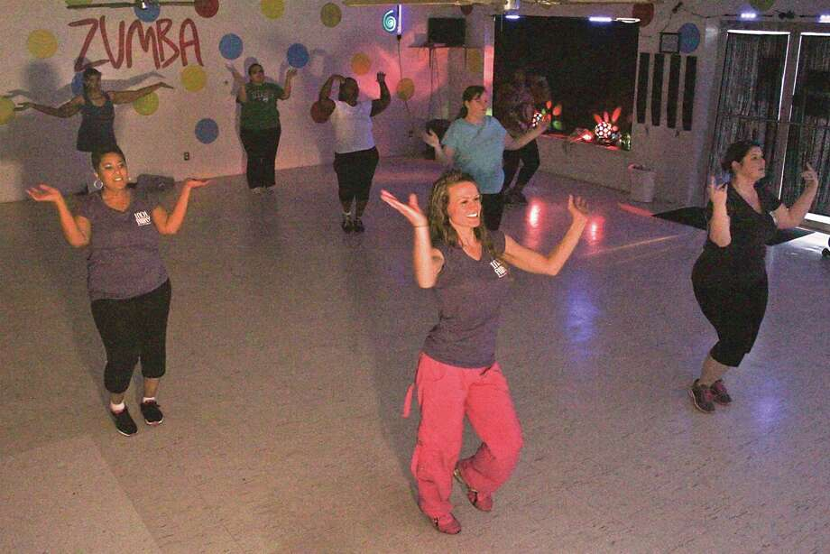 Zumba allows people of all sizes, ages to inch away the winter blues. Photo by Alison Hart
