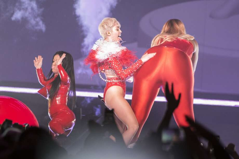 "Miley Cyrus opens her ""Bangerz Tour"" at Pepsi Live at Rogers Arena on February 14, 2014 in Vancouver, Canada. Photo: Phillip Chin, Getty Images"