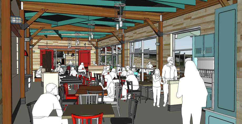The future H-E-B store in Stone Oak will feature a connected restaurant, dubbed Oaks Crossing, that should open on or around July 4. Photo: Courtesy