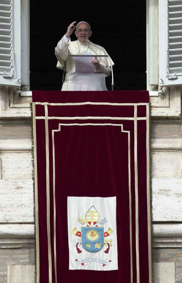 A reader says that Pope Francis, shown here delivering blessings from his studio window at the Vatican, does not condone the gay lifestyle, as a previous letter writer seemed to indicate. Photo: Alessandra Tarantino / Associated Press / AP
