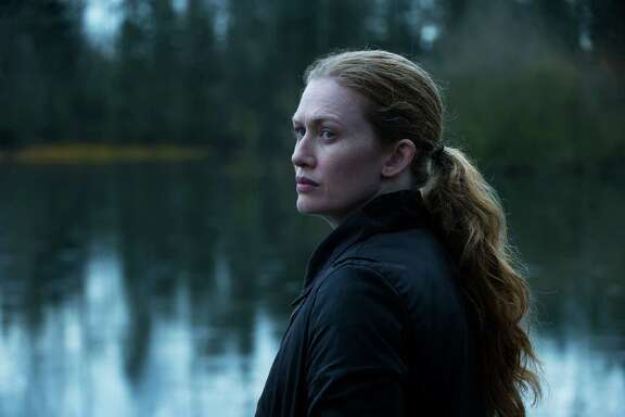 "Mireille Enos plays Detective Sarah Linden on ""The Killing."""