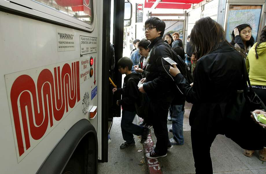 Muni is deciding whether to continue its Kids Ride Free program for low- to middle-income youths. A city report analyzed the cost of the pilot program and expanded it to include 18-year-olds. Photo: Michael Macor, The Chronicle