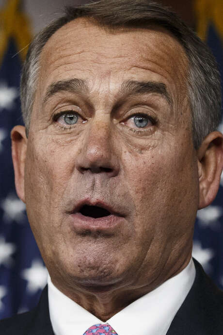John Boehner has had trouble selling immigration reform to the House GOP caucus. / AP