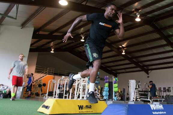 In preparing for this week's NFL draft combine, Demetri Goodson has been breaking down six drills in minute detail during daily workouts at Plex Fitness.