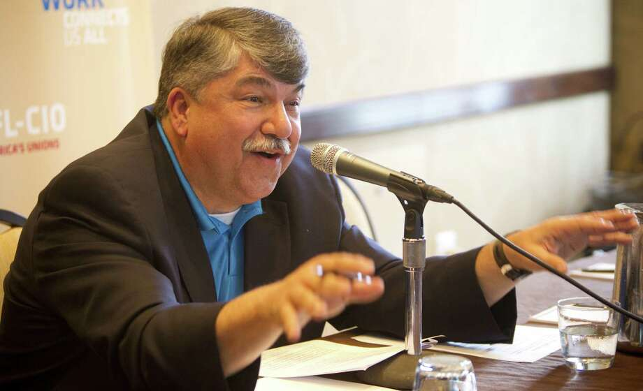 "Richard Trumka, president of the AFL-CIO in Washington, D.C., says the labor federation's focus ""is on raising wages"" and to show Texas workers its commitment to them. Photo: Marie D. De Jesús / Houston Chronicle / © 2014 Houston Chronicle"