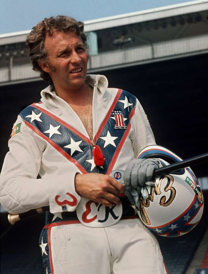 Daredevil motorcyclist Evel Knievel at the Canadian national exhibition stadium in Toronto. Photo: Ap, AP