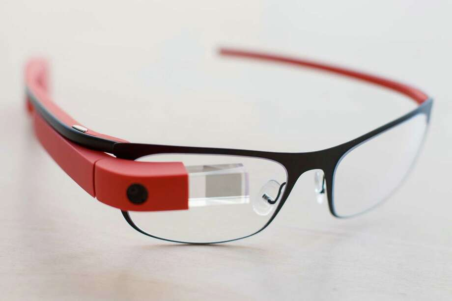 Google Glass was developed at the Google X labs as a wearable computer device. It functions as a hands-free smartphone. Photo: John Minchillo, Associated Press / FR170537 AP