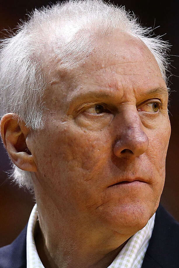 Gregg Popovich doesn't consider his team's 38-15 record an accurate gauge of where the Spurs stand. / 2014 Getty Images