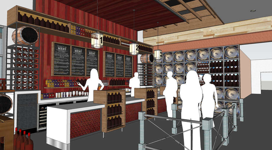 The Oaks Crossing H-E-B restaurant will include a full beer and wine selection, as well as fresh pizza, burgers, barbecue and Mexican food such as street tacos. Photo: Courtesy Illustration