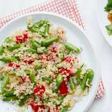 """Quinoa (KEEN-wah): An ancient grain that's become popular because it is a complete protein. Audio: Click here to hear the term """"Quinoa."""""""