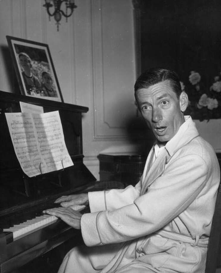 August 1948:  American composer and singer Hoagy Carmichael (Hoagland Howard, 1899 - 1981) playing a piano in his London hotel room.  (Photo by George Konig/Keystone Features/Getty Images) Photo: George Konig, Getty Images / Hulton Archive