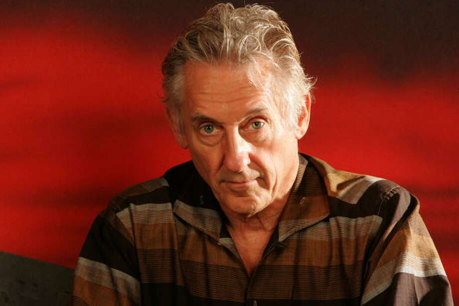 Artist Ed Ruscha poses for a portrait in his studio on October 10, 2004 in Venice, California. Photo: Dan Tuffs, Getty Images / 2004 Getty Images