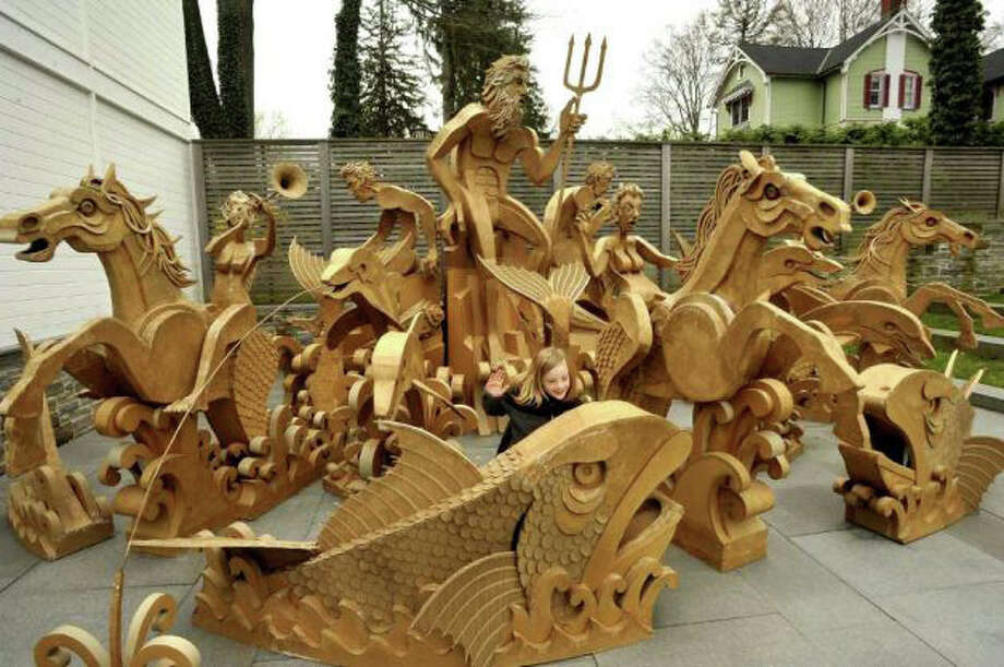 The carboard sculpture by artist Jimmy Grashow on display in 2012 at the Aldrich Museum in Ridgefield. Photo: File Photo / Westport News