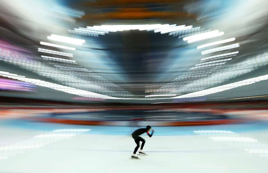 Shane Dobbin of New Zealand competes during the Men's 10000m Speed Skating event on day eleven of the Sochi 2014 Winter Olympics at Adler Arena Skating Center on February 18, 2014 in Sochi, Russia. Photo: Quinn Rooney, Getty Images