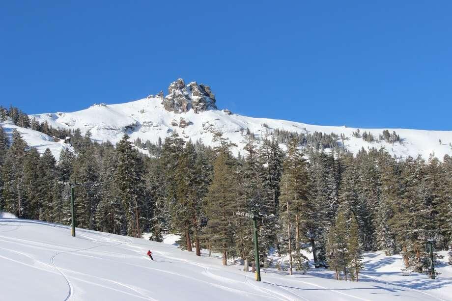 Bluebird skies and fresh snow at Kirkwood