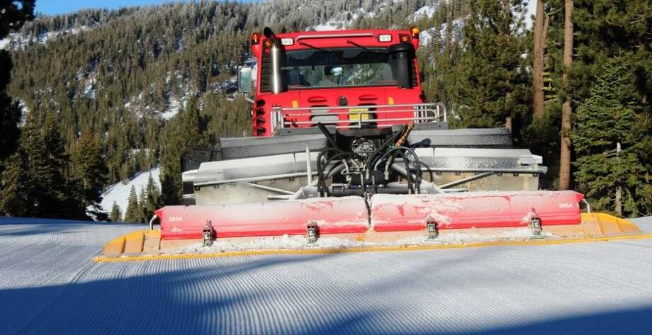 Prepping the snow for Last Tracks at Diamond Peak