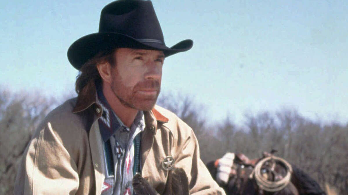 """Sergeant Cordell Walker (Chuck Norris), """"Walker, Texas Ranger"""" He drove a pickup, toted a shotgun and upheld the law for one of the most famous state-wide law enforcement agencies in America. Norris had a number of famous roles, and this one ranks near the top."""